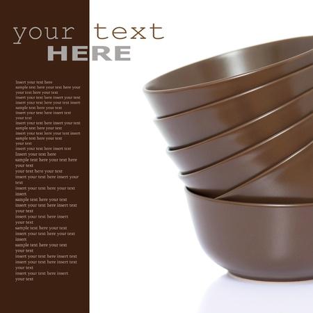 sample text: Pila de bolos (con texto de ejemplo) Foto de archivo
