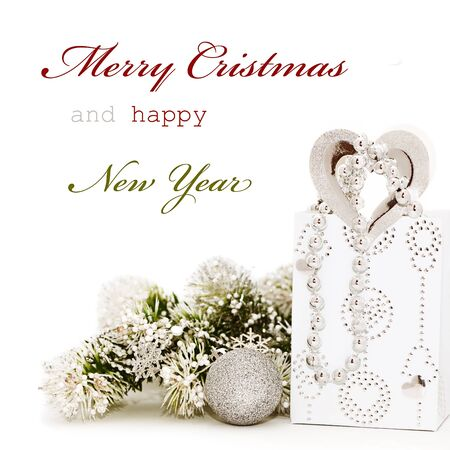 Christmas greeting card with pink baubles and sample text stock christmas greeting card with sample text photo m4hsunfo Images