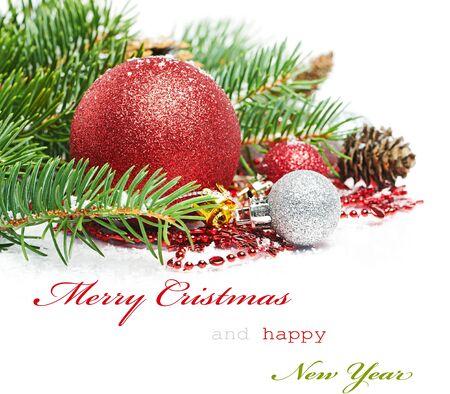 Christmas greetings card Stock Photo