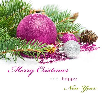 Tarjeta de felicitaciones de Navidad Foto de archivo