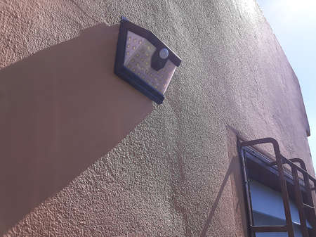 Solar cell light get sunlight in the noon. Stock Photo