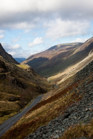 Lake District, England - Honister Pass Cumbria Stock Photo - 24324475