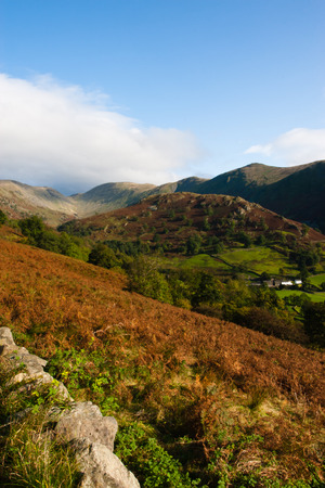 fells: Beautiful day in the Lake District, Cumbria, England Stock Photo