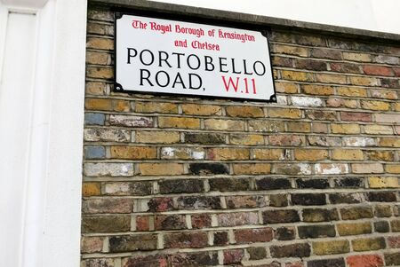 Portobello Road Street Sign in Notting Hill, London, England