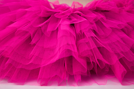 Bright hot pink netting from a ballet tutu dress. Stock Photo