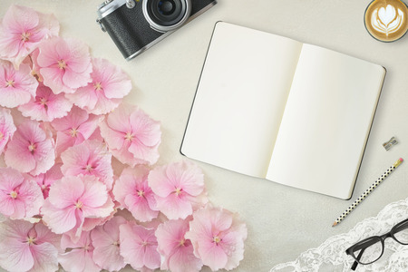 stock photography: Pretty Styled Desktop Mockup flatlay stock photography, with tablet device, white background, great for lifestyle   and small businesses