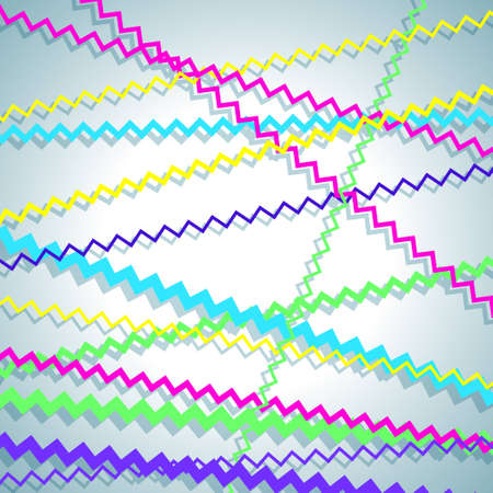 Colorful background with zigzag lines Vector