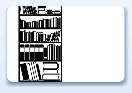 Visitenkarte mit Piktogramm für Bibliothek oder im Buchhandel Standard-Bild - 9077637