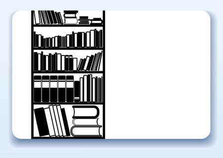 buchhandlung: Visitenkarte mit Piktogramm f�r Bibliothek oder im Buchhandel Illustration