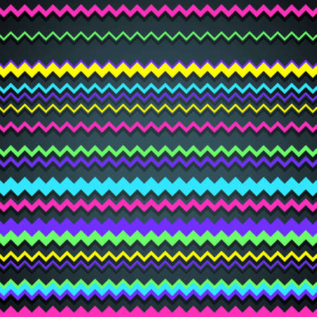 Colorful abstract background made of zigzag lines Illustration
