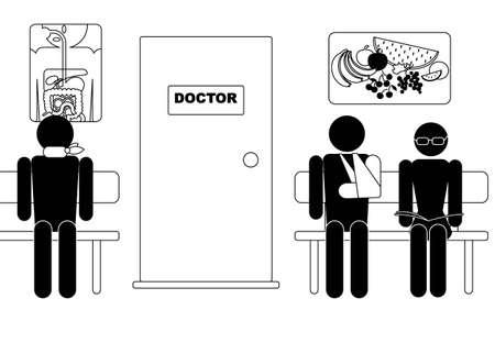 spital ger�te: Menschen Sie Zimmer warten, warten darauf, Arzt besuchen