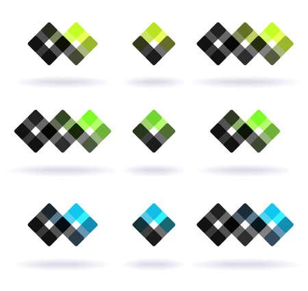 Set of nine design elements