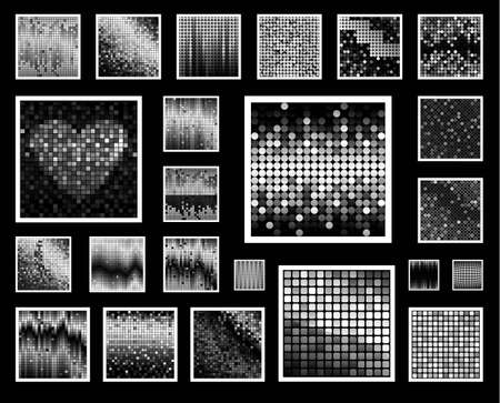 23: Set of 23 mosaic background