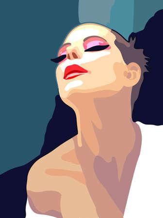 mujer: Pintura, retrato de una mujer