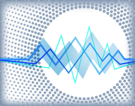 Abstract background with zigzag waves Vector