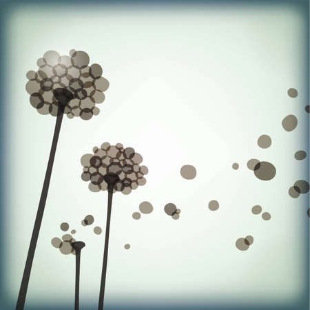 background with dandelions, eps10 format Vector