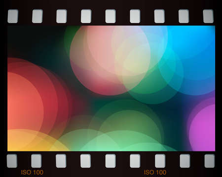 Abstract colorful lights in fim frame