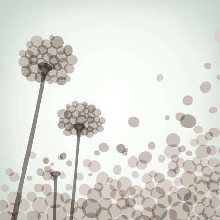 Floral background with dandelions eps8 Vector