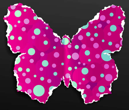 Butterfly made of torn colorful paper, vector illustration Stock Vector - 9487658