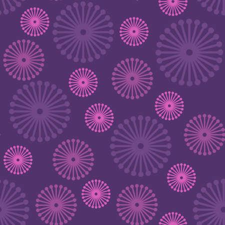 morado: Purple patr�n floral transparente, vector eps8 ilustraci�n