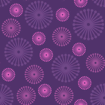 Purple seamless floral pattern, vector eps8 illustration Illustration
