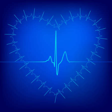 heart beat abstract background, vector eps8 illustration Vector