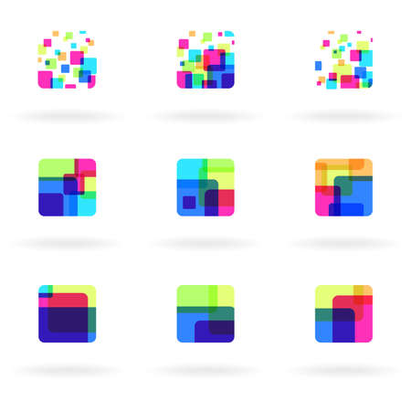 Set of colorful design elements