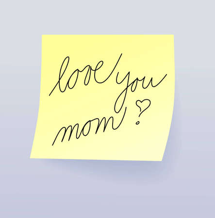 Love you mom, Mothers Day illustration Vector
