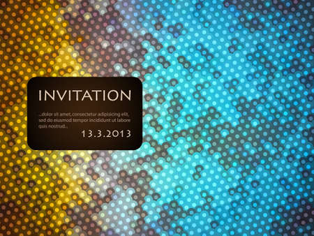 Invitation, colorful pattern with space for text Vector