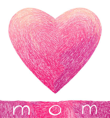 Doodle heart for Mothers Day Vector