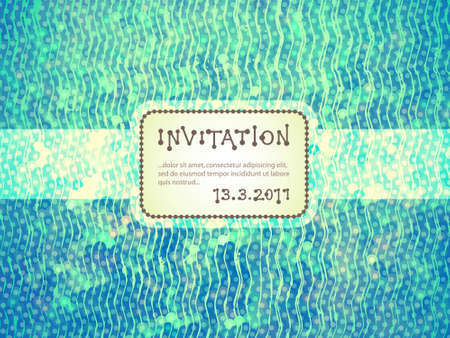 Invitation, colorful pattern with space for Your text Vector