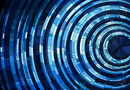 Abstract background made of shiny blue pattern