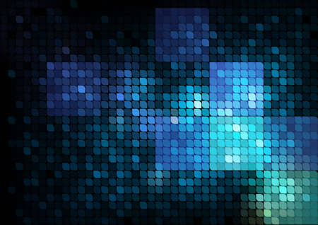 Blue mosaic abstract background Vector