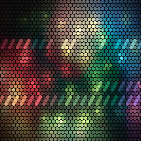 Abstract background made of colorful pattern Vector
