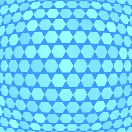octagon: Blue background with octagon pattern