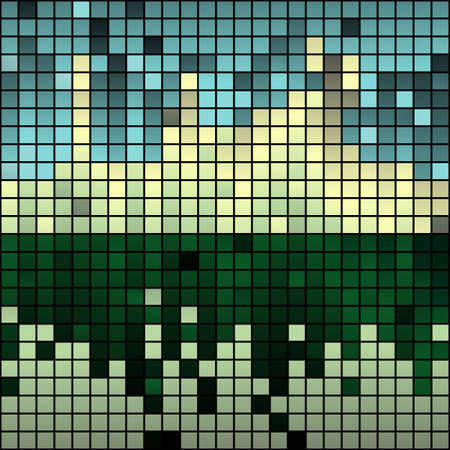 mosaic floor: Abstract background made of shiny mosaic pattern