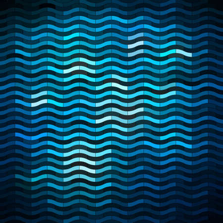 wave pattern: Shiny mosaic background, vector eps8 illustration