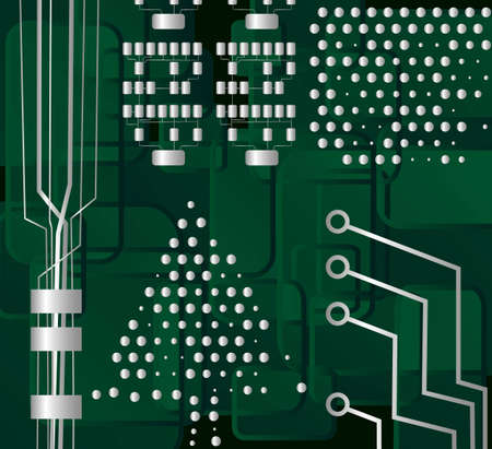 motherboard: Circuit Christmas Tree, vector eps8 illustration