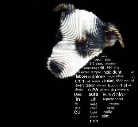 Little puppy, vector eps8 illustration Vector