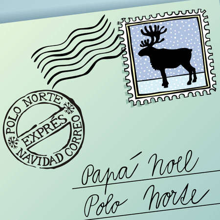 Letter for Papa Noel, vector eps8 illustration Vector