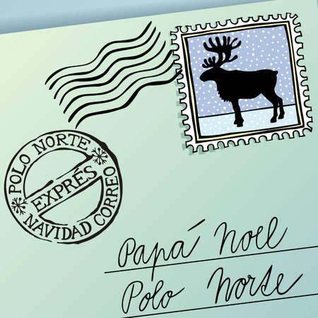 papa noel: Letter for Papa Noel, vector eps8 illustration