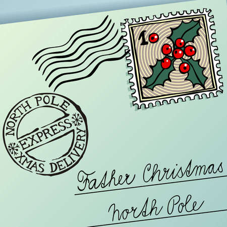 north pole: Letter for Father Christmas, vector eps8 illustration Illustration