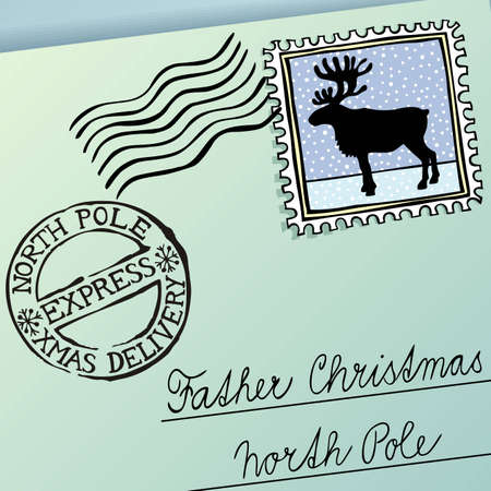 Letter for Father Christmas, vector eps8 illustration Vector
