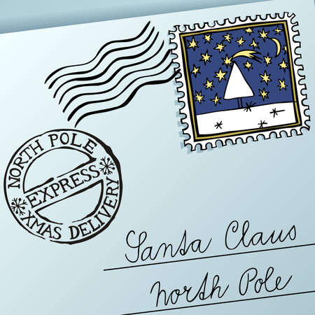 Letter for Santa Claus, vector eps8 illustration Vector