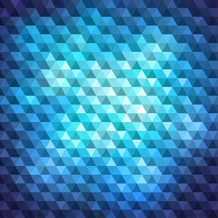 Blue shiny mosaic background, vector eps8 illustration