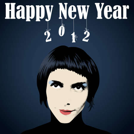 Happy New Year 2012, vector eps8 illustration Vector