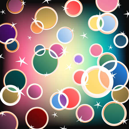 Abstract background made of colorful bubbles illustration Illustration