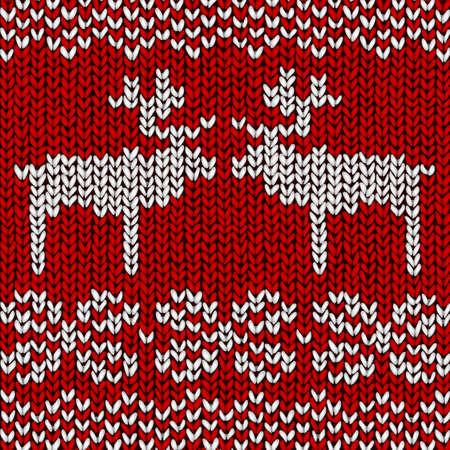 pullover: Christmas background Jumper mit Rentieren