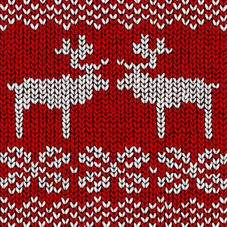 Christmas background jumper with reindeers Vector