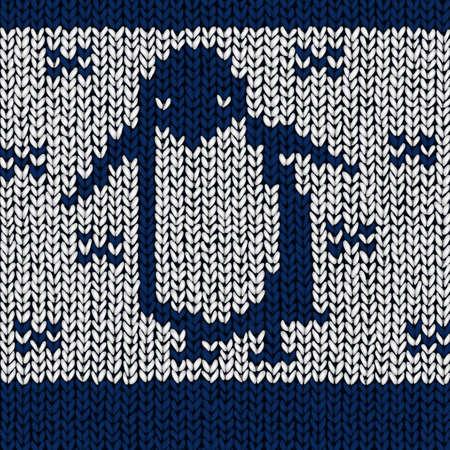 cotton wool: Christmas jumper with penguin illustration Illustration